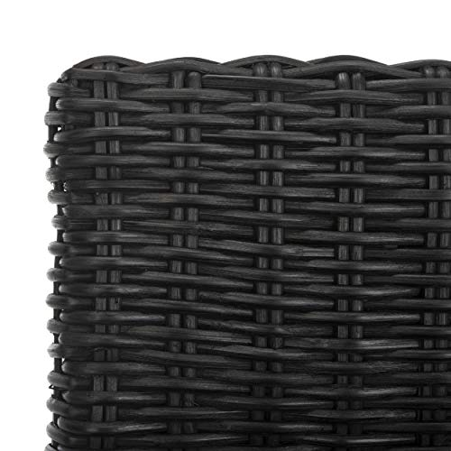 - Safavieh Home Collection Cypress Black Wicker 30-inch Bar Stool