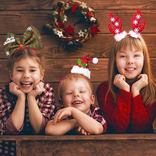 Kerstmis hoofdbanden, Rendier Antler Xmas Tree Head Hat Toppers Costume hoofdbanden for kerstvakantie partijen, Jaarlijks Holiday, Foto's Booth xmas hattar WANGSHAOFENG