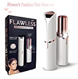 Kuke Women's Painless Hair Remover Professional Hair Remover Mini Rose Gold-Plated Epilator for Facial Hair Removal
