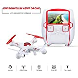 Dwi Dowellin X6WF RTF 720P HD Camera With 5.8G FPV Real-time Transmission System With 2 Batteries Remote Control Quadcopter