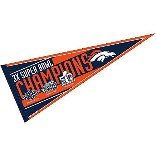 WinCraft Denver Broncos Official NFL 30 inch Large Pennant