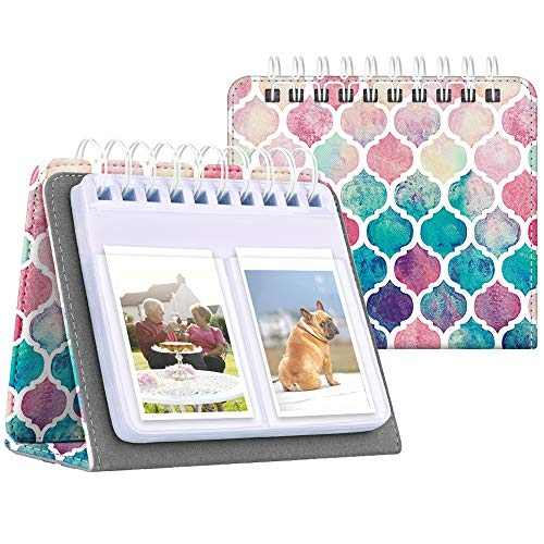 Fintie Calendar Photo Album for Fujifilm Instax, 64 Pockets Vegan Leather Photo Album for Fujifilm Mini 9 Mini 8+ Mini 90 Mini LiPlay, HP Sprocket, Kodak Mini, Polaroid Camera 3-Inch, Moroccan Love