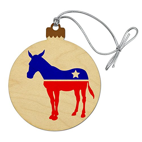 Donkey Christmas Ornament (Graphics and More Democrat Donkey Liberal America Political Party Wood Christmas Tree Holiday Ornament)