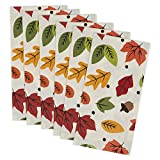 """DII 100% Cotton, Oversized 20x20"""" Napkin For Fall Holidays, Buffets, Parties, Special Occasions, or Everyday Use - Set of 6, Fall Leaves"""