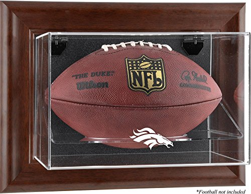 Mounted Memories Denver Broncos Brown Football Display Case - Denver Broncos One Size