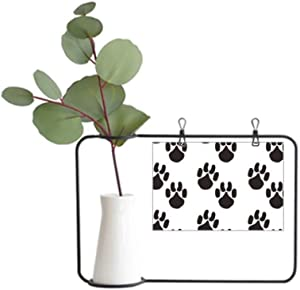 DIYthinker Animal Cute Paw Print Silhouette Footprint Metal Picture Frame Ceramic Vase Decor