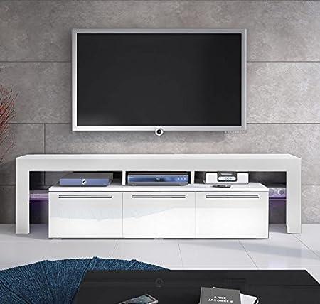 Design diseño modelo Talia-Mueble para Tv, color blanco: Amazon.es: Hogar