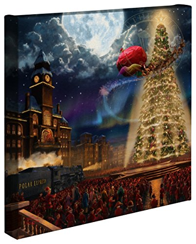 (Thomas Kinkade Studios The Polar Express 14 x 14 Gallery Canvas Wrap)