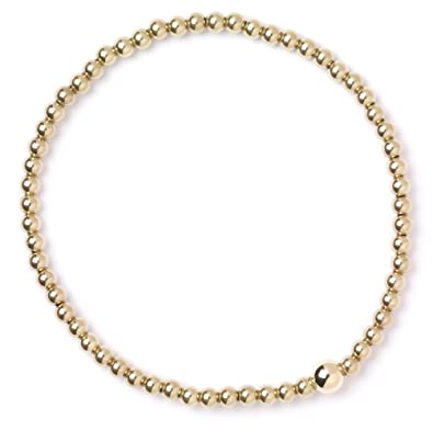 9ct Yellow Gold Ball Bead Bracelet Amazoncouk Jewellery