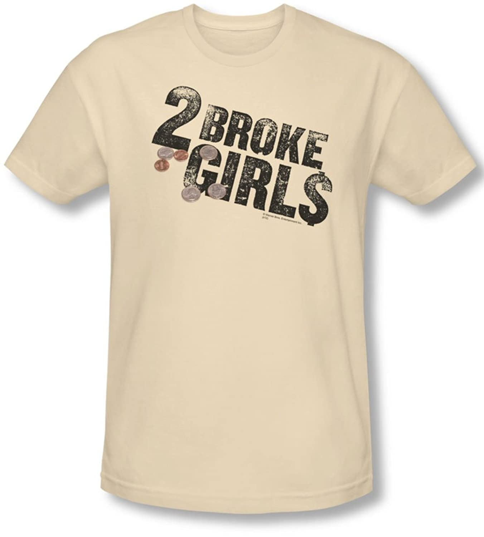 2 Broke Girls - Mens Pocket Change T-Shirt In Cream