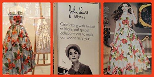 John Lewis Sylvia Coronation Print Prom Dress 150 Year RRP £150 (16): Amazon.co.uk: Clothing