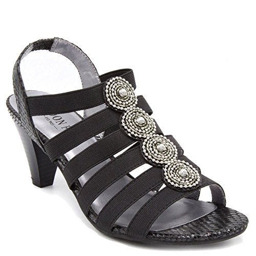 London Fog Nanci Dress Sandals Black 65 M US