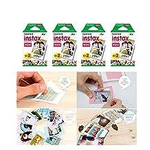 Fujifilm Instax Mini Instant Film, 2 x 10 Shoots x 4 Pack (Total 80 Shoots) Value Set + 20 Pcs Film Decorative Sticker