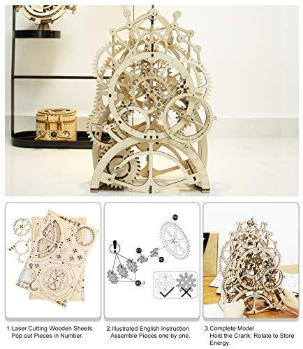 Robotime 3d Wooden Puzzle Laser-cut - Building Clock