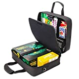 electronic battleship pieces - USA Gear Board Game Carrying Bag with Custom Storage Compartments and Padded Shoulder Strap - Store your Favorite Games like Settlers of Catan, Risk, Cards Against Humanity & More