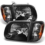 2005 2006 Toyota Tundra Double | Crew Cab Black Headlights W/ Corner Lights Left + Right Side Pair