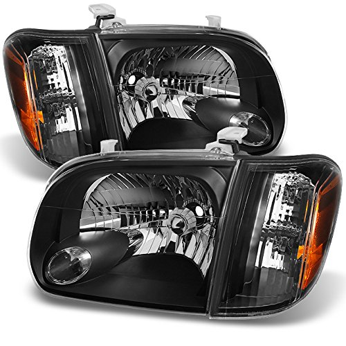 - For 2005 2006 Toyota Tundra Double | Crew Cab Black Headlights W/Corner Lights Left + Right Side Pair