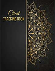 Client Tracking Book: Hair Stylist Appointment Profile Salon Client Data Organizer & Client Management System Including Address Details And Appointment. Information Keeper & Record Log Book For A - Z Alphabetical Tabs   Black And Gold Mandala