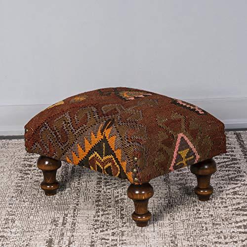 Kilim Stool - Foot Stool - Our Design Ottoman Pouf