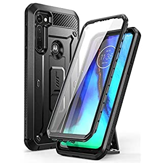 SUPCASE Unicorn Beetle Pro Series Case Designed for Moto G Stylus 2020, Built-in Screen Protector Full-Body Rugged Holster & Kickstand Case (Black)