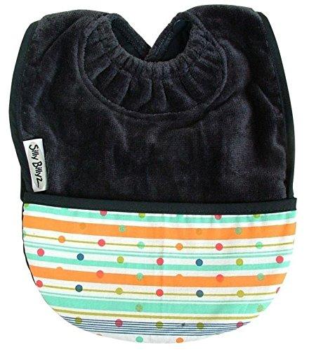 Silly Towel Billyz (Silly Billyz Snuggly Premium Cotton Towel Toddler Bib with Pocket (Navy))