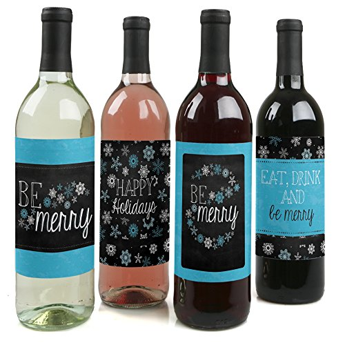 Be Merry Holiday Bottle Labels