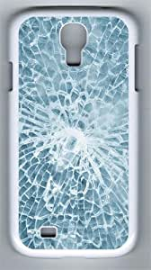 Texture of Broken Glass Custom Samsung Galaxy S4 I9500 Case Cover ¨C Polycarbonate ¨C White