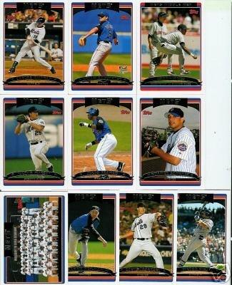 2006 Topps Series 2 NEW YORK METS baseball cards team set