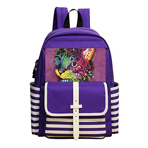 Small School Bags For Kindergarten Boys Girls,Print Crown Kitten,Purple -  bagshome Schoolbag, bagshomePDA5-RZ6-A6S