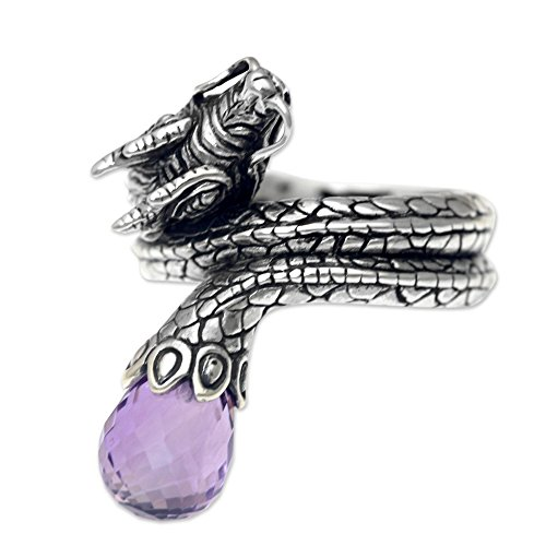 Sterling Silver Artisan Crafted Fantasy Theme Dragon Ring, Royal' ()