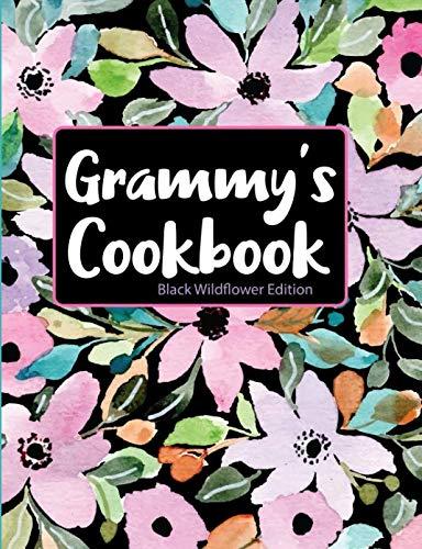 Grammy's Cookbook Black Wildflower Edition by Pickled Pepper Press