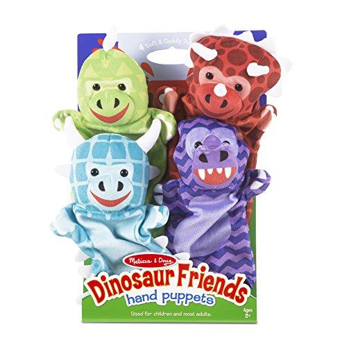 Melissa & Doug Dinosaur Friends Plush Hand Puppets,