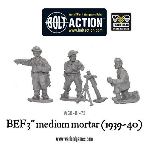 - 3 Medium 1939-40 Bef Mortar Team Miniatures