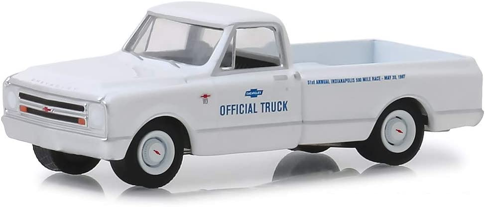 1967 Chevrolet C-10 Pickup Truck White 51th Annual Indianapolis 500 Mile Race Official Truck Hobby Exclusive 1//64 Diecast Car by Greenlight 30029