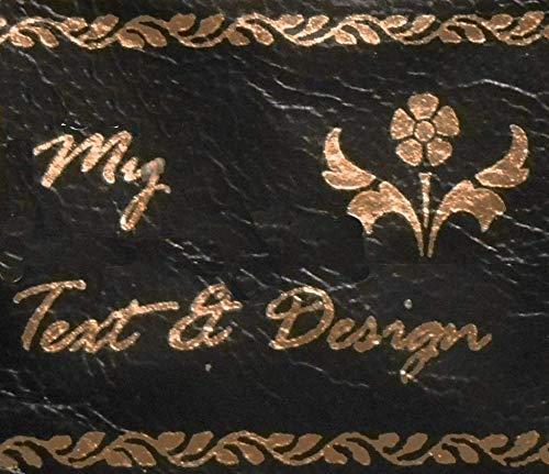 Custom Leather Labels - Genuine 22K Gold