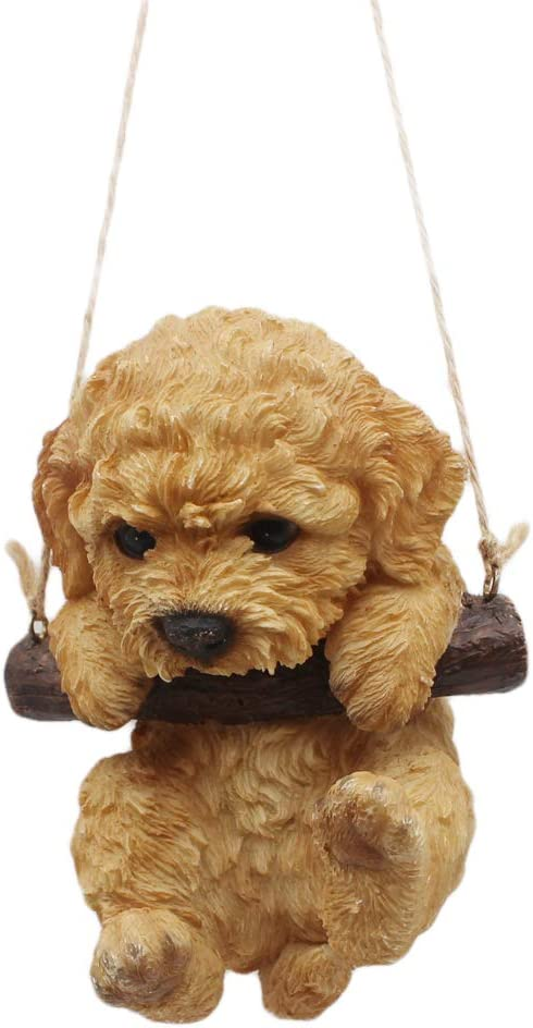 Sculpture Poodle Dog Figurine Ornament Home Office Decoration Funny Novelty Gift Coffee Poodle