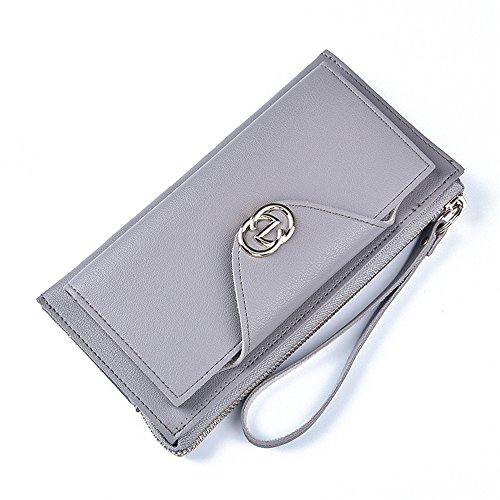 Große Kapazität multifunktionale Tasche mit Schnalle zip Schwarz Hellgrau