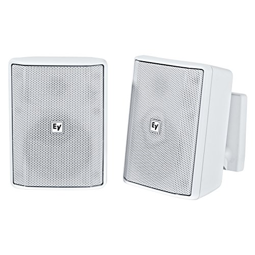 - Electro Voice EVID-S5.2 Pair 2-Way 4 in Surface Mount Speaker - White