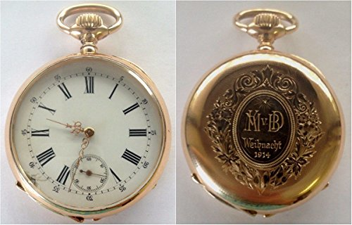 (1890 CH Antique Swiss 1890 Gold Shooting Watch Frauenfeld coin Good )