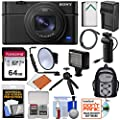Sony Cyber-Shot DSC-RX100 VI 4K Wi-Fi Digital Camera with VCT-SGR1 Shooting Grip/Tripod + 64GB + Battery & Charger + LED Light + Backpack Kit