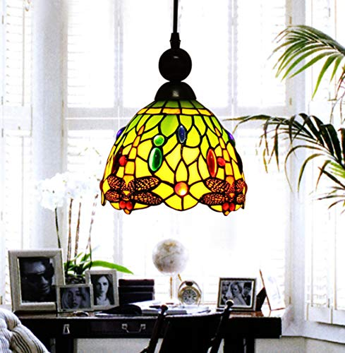 Green Glass Light Pendant in US - 9