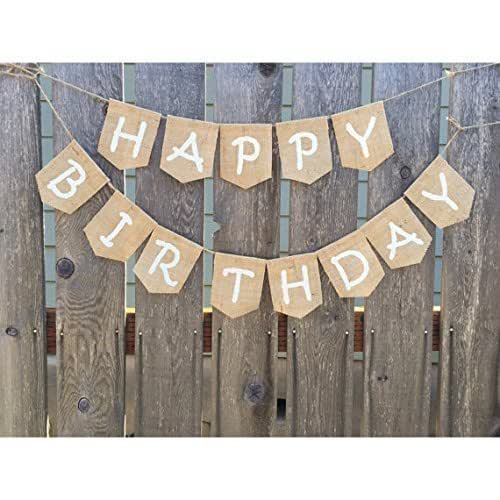 Amazon.com: Happy Birthday Banner, Happy Birthday Burlap