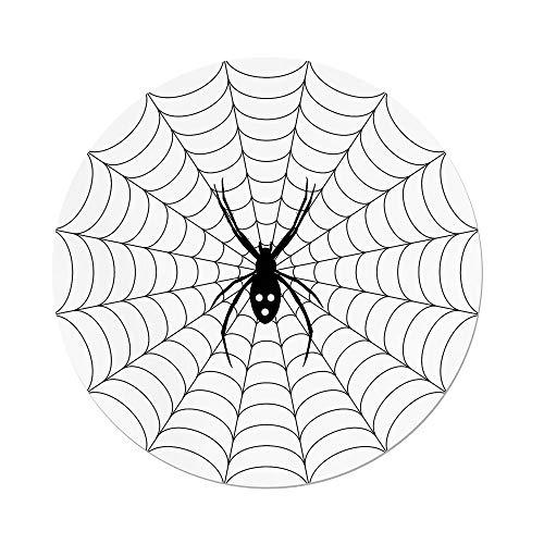 Polyester Round Tablecloth,Spider Web,Poisonous Bug Venom Thread Circular