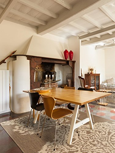 benuta Teppiche: Moderner Designer Flachgewebe Teppich Dawn Lace Braun 200x285 cm - Oeko-Tex Standard 100-Siegel - 100% Polypropylen - Abstrakt - Flachgewebt - Wohnzimmer