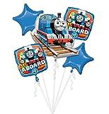 Anagram 86180 FOIL Licensed Balloon Bouquet, Blue