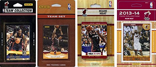 NBA Miami Heat 4 Different Licensed Trading Card Team Sets