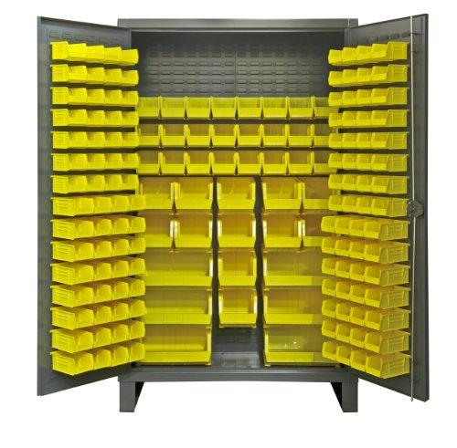 Durham Extra Heavy Duty Welded 12 Gauge Steel Cabinet With 162 Bins, HDC48-162-95, 24 Length x 48 Width x 78 Height