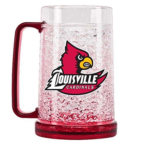 Duck House NCAA Louisville Cardinals 16oz Crystal Freezer (Ncaa Crystal Mug)