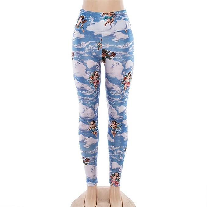 Amazon.com: POHOK - Pantalones de yoga para mujer, sexy ...