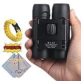 COSTIN Mini Pocket Binoculars, 8x22 Small Optics Zoom Binoculars, Compact & Lightweight Folding Binoculars Vision with Low Light Night for Adults Kids, for Outdoor Birding, Travelling, Hunting
